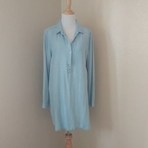 Banana Republic Denim Chambray Shirt/Tunic Dress